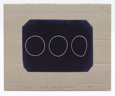 Cresci, Alterazione del cerchio (negativo), Venise, 1964