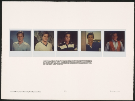 Heinecken, Lessons in Posing Subjects / Maintaining Facial Expressions (Male), 1981
