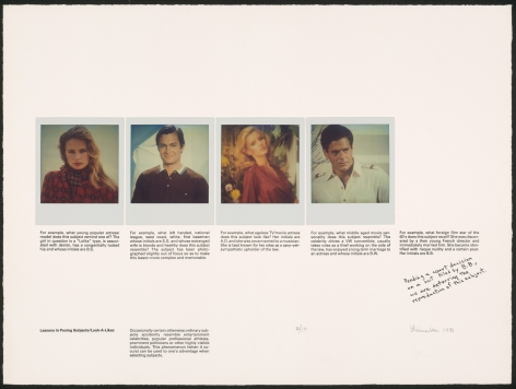 Heinecken, Lessons in Posing Subjects / Look-A-Likes, 1981