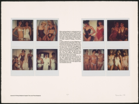 Heinecken, Lessons in Posing Subjects / Lingerie (Two and Three Subjects)