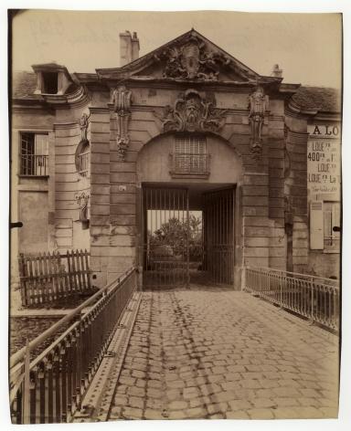 Atget, Stains, ancien pied-à-terre des ducs d'Orléans, 1901-1927