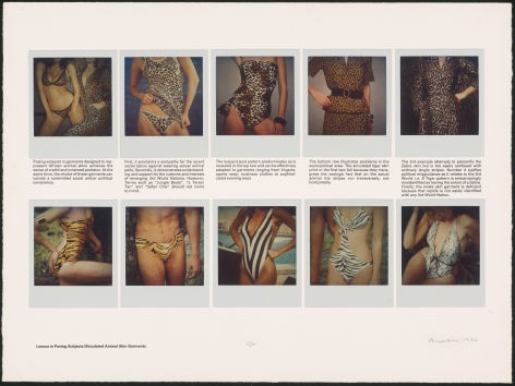 Heinecken, Lessons in Posing Subjects / Simulated Animal Skin Garments, 1981