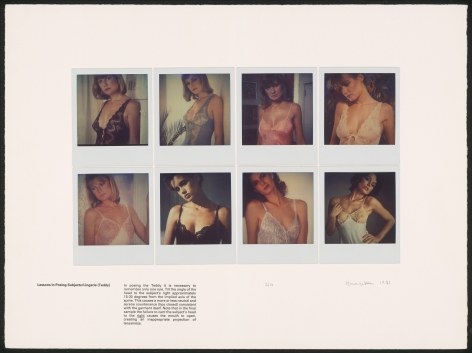 Heinecken, Lessons in Posing Subjects / Lingerie (Teddy), 1981