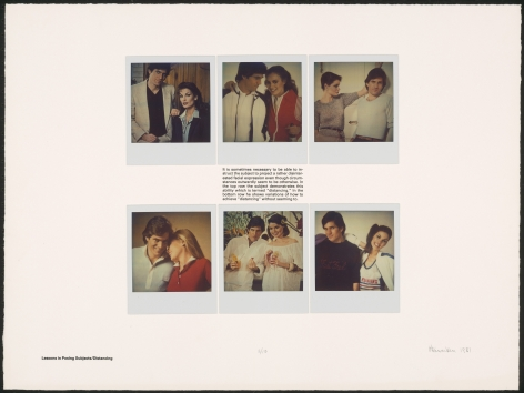 Heinecken, Lessons in Posing Subjects / Distancing, 1981