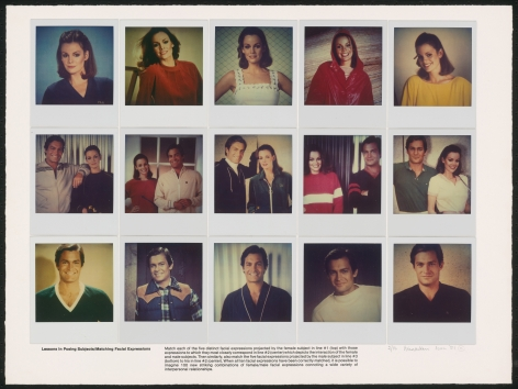 Heinecken, Lessons in Posing Subjects / Matching Facial Expressions, 1981