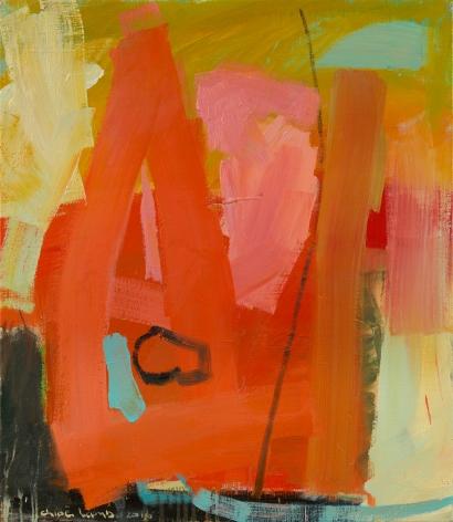 Chloë Lamb (b. 1960) Apricot and Blue, 2016