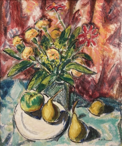 Alfred H. Maurer (1868-1932) Flowers and Pears, circa 1928