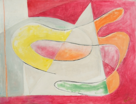 Quita Brodhead (1901-2002) Abstract Forms, late 1960s
