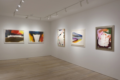 Installation view - Between Tachisme and Abstract Expressionism: Bluhm, Francis, Jenkins