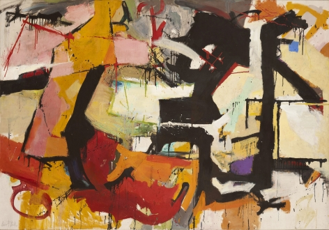Audrey Flack (b. 1931) Abstract Force: Homage to Franz Kline, 1951–52