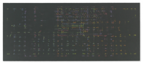 Julia Fish - Threshold - Matrix : harbour spectrum : transposed  for E and L, 2014-2015 - Hollis Taggart