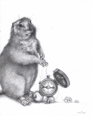 Adonna Khare (b. 1980) Groundhog with Clock, 2016