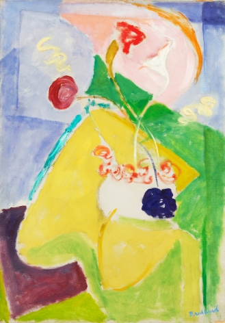 Quita Brodhead (1901-2002) Abstract Form with Yellow and Pink, circa 1950's