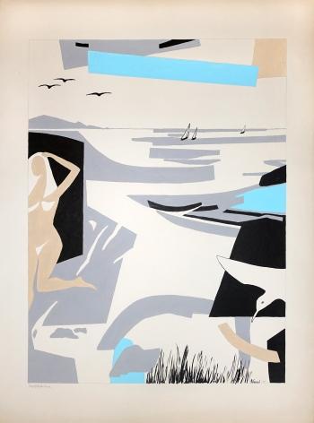 George Vranesh (1926-2014) Enjoying the Beach, 1988