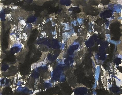 Norman Bluhm (1921-1999) Untitled (Blue and Black), circa 1955