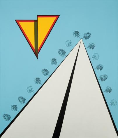 Allan D'Arcangelo (1930-1998) Landscape, 1967