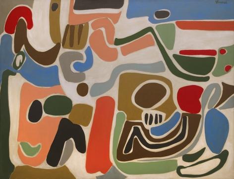 George Vranesh (1926-2014) Morning in the Sandbox, 1956