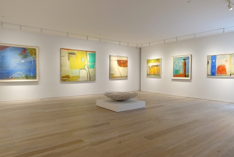 Installation view: Color Harmonies: New Paintings by Chloë Lamb