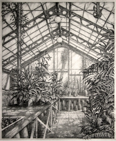 Mark Leithauser (b. 1950) In the North Greenhouse, 1983
