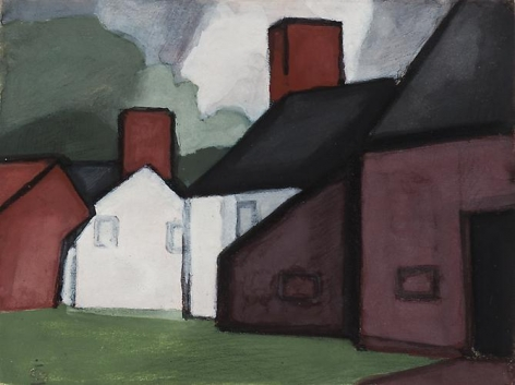 Oscar Bluemner - Untitled, circa 1914-15