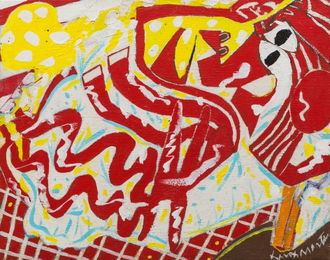 Knox Martin (b. 1923) Red Woman, 1975
