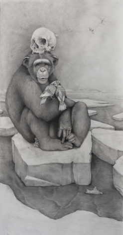 Adonna Khare, Chimp with Skull, 2016