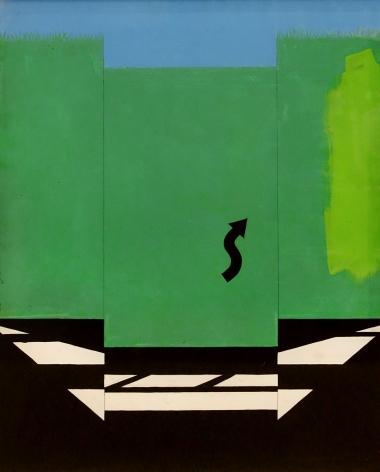 Allan D'Arcangelo - Original study for the silkscreen, U.S. Highway 1, 1965