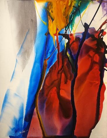 Paul Jenkins, (1923-2012) Phenomena Katherine Wheel, 1968
