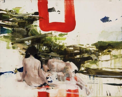Alex Kanevsky - Ted's Brook with Imaginary Ladies, 2015 - Hollis Taggart