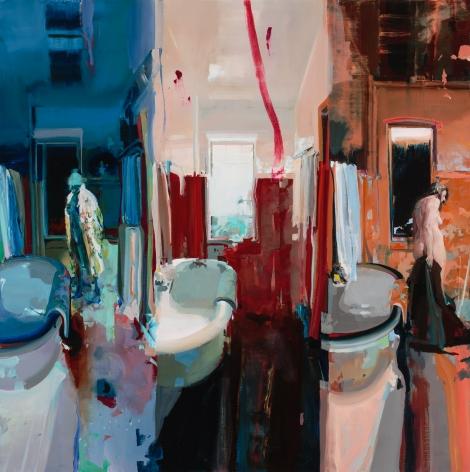 Alex Kanevsky (b. 1963) Three Views of a Bathroom, 2016