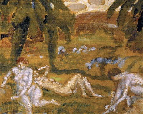 Frederick C. Frieseke - Three Nude Figures, Giverny, circa 1914