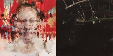 Alex Kanevsky - J.F.H. and Dark Garden, 2015 - Hollis Taggart