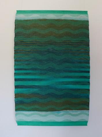 Debbie Barrett-Jones: Aqua-Brown-Navy Inlay #5 with Aqua