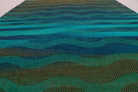 Debbie Barrett-Jones: Aqua-Brown-Navy Inlay #5 with Aqua (detail)