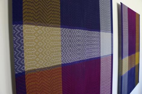 Debbie Barrett-Jones: Gold, Shades of Purple and Silver (detail)