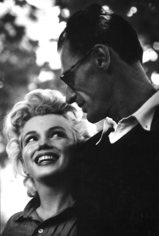 Connecticut, Marilyn Monroe and Arthur Miller, 1956, Silver gelatin print, 13.5 x 9""