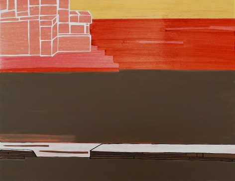 Frances Barth West Mirage, 2009  Acrylic on panel  16.5 x 21.5""