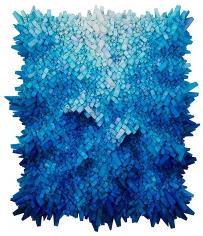 Chun Kwang Young, Aggregation 19 - JU45, 2019, mixed media with Korean mulberry paper, 45.75x 39.4inches/116 x 100 cm