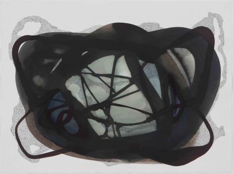 Manisha Parekh,Indigo Cloud4, 2015, ink and watercolor on Arches paper, 22 x 30 inches/55.9 x 76.2 cm, Courtesy of Nature Morte, New Delhi
