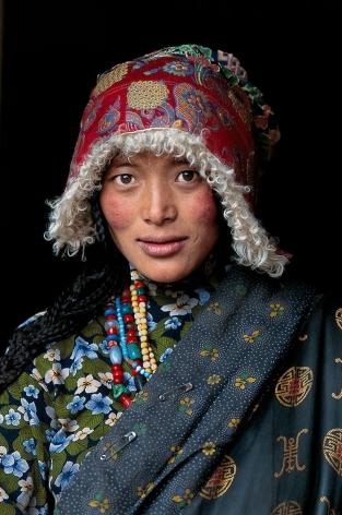 Pilgrim, Amdo, Tibet, 2001, ultrachrome print, 24 x 20 inches/61 x 50.8 cm