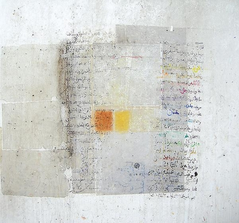 , Hakim Ghazali, Untitled, 2005, mixed media on canvas, 59.1 x 59.1 inches