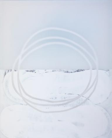 Zeit - Fliessend 3, 2019, mixed media on canvas, 89 x 72 inches/226.1 x 182.9 cm