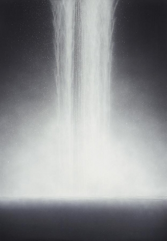Hiroshi Senju, Waterfall, 2009, Natural pigments on Japanese mulberry paper, 162.1x112.1cm