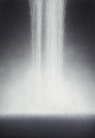 Hiroshi Senju, Waterfall, 2009, Natural pigments on Japanese mulberry paper, 162.1x112.1cm