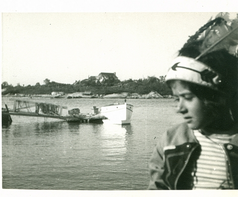 Susan Weil, in the summer of 1940, on Outer Island in the Long Island Sound, off the coast of Connecticut