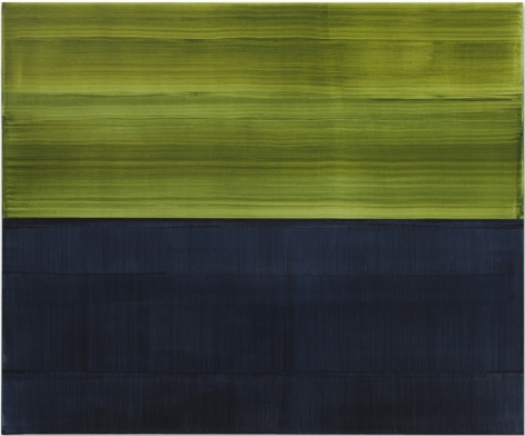 Green & Payne Grey 1, oil on linen, 48 x 57.5 inches/122 x 146 cm