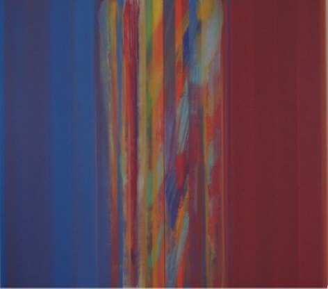 Impossibile Blu, 2009, acrylic on linen,94.5 x 103 inches/240 x 261.6 cm