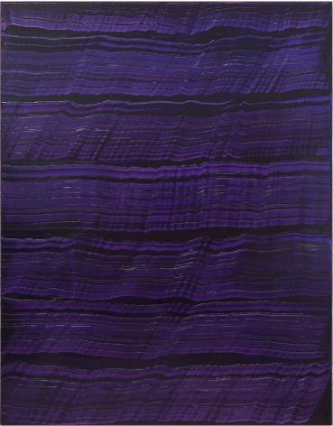 Vertical Violet Blue, 2016, oil on linen,70 x 55 inches/177.8x 139.7cm