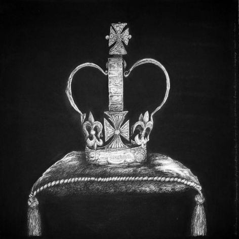 Commonwealth: Project Another Country; Everybody Needs a Crown, 2015, charcoal on paper, 44.9 x 44.9 inches/114 x 114 cm
