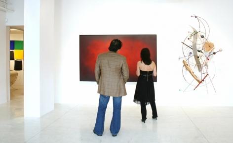 Sundaram Tagore Gallery Beverly Hills, Group Show, Artist Exhibited Left to Right: Natvar Bhavsar, Fre Ilgen.